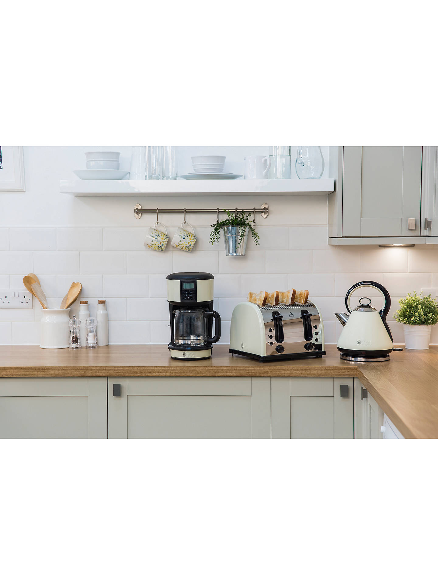 BuyRussell Hobbs Quiet Boil Kettle, Cream Online at johnlewis.com