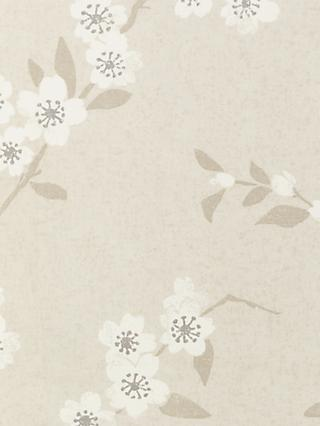 John Lewis & Partners Cherry Blossom Furnishing Fabric, Natural