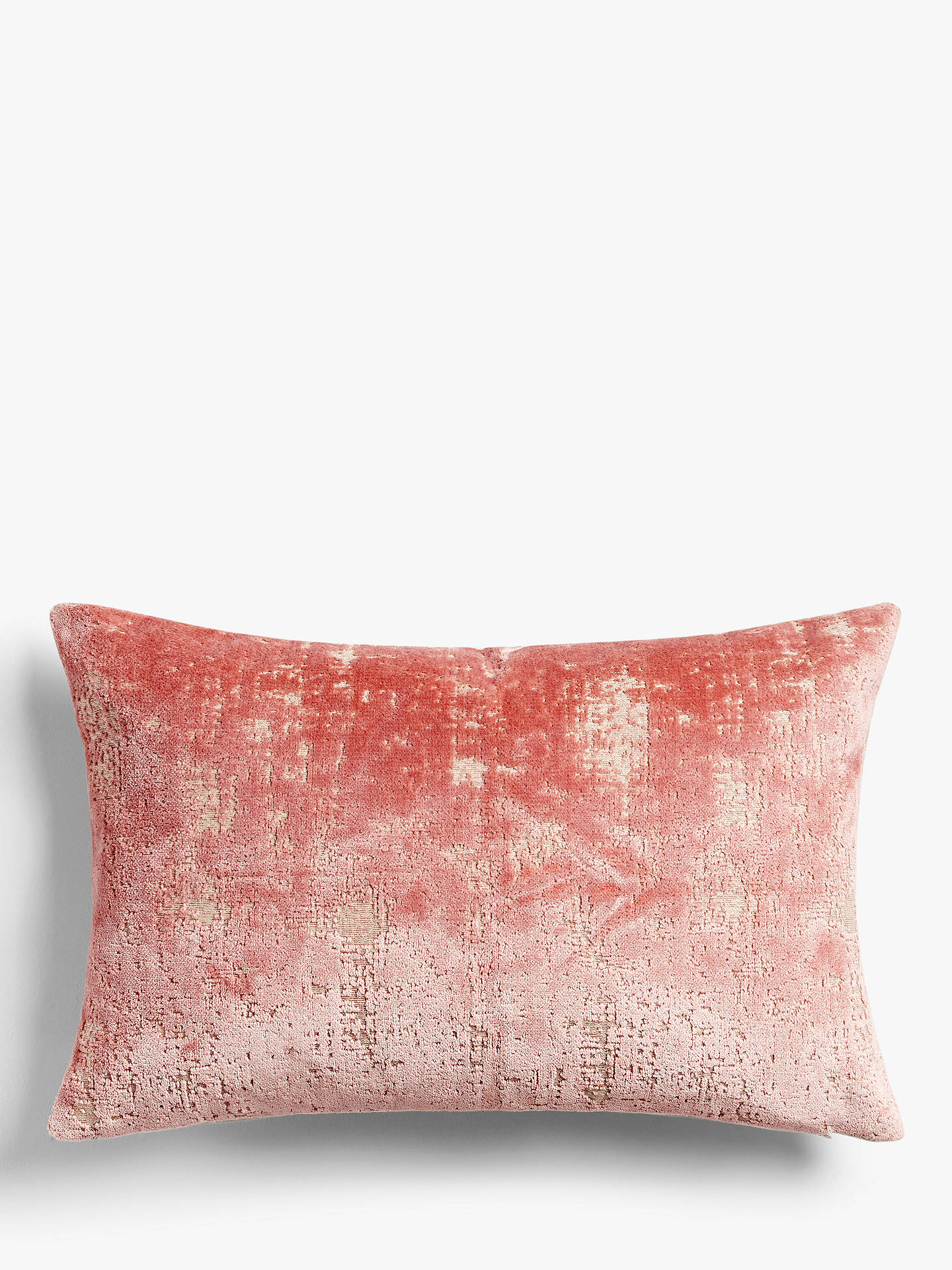BuyJohn Lewis & Partners Distressed Velvet Cushion, Pink Mid Online at johnlewis.com
