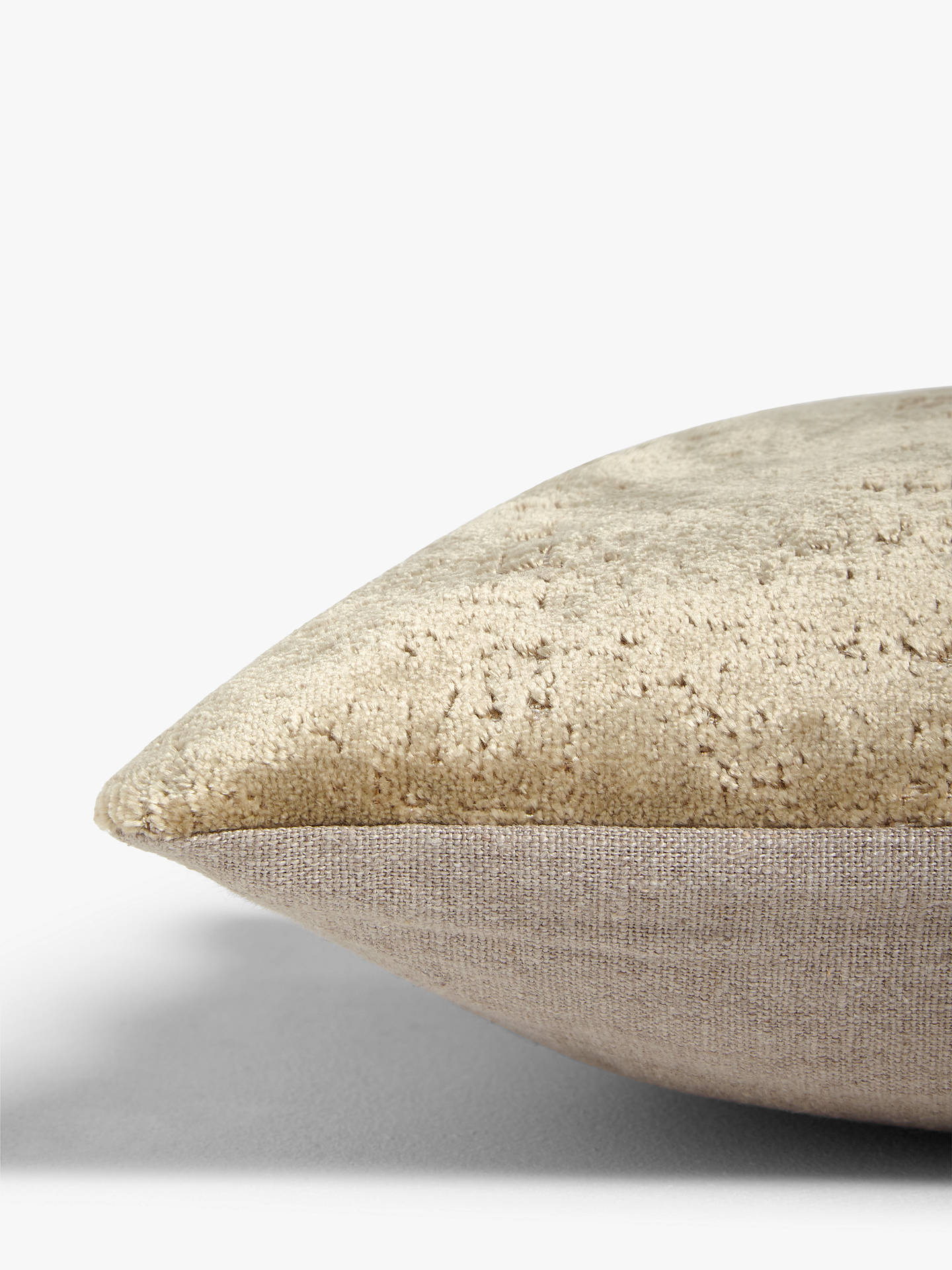 BuyJohn Lewis & Partners Distressed Velvet Cushion, Gold Online at johnlewis.com