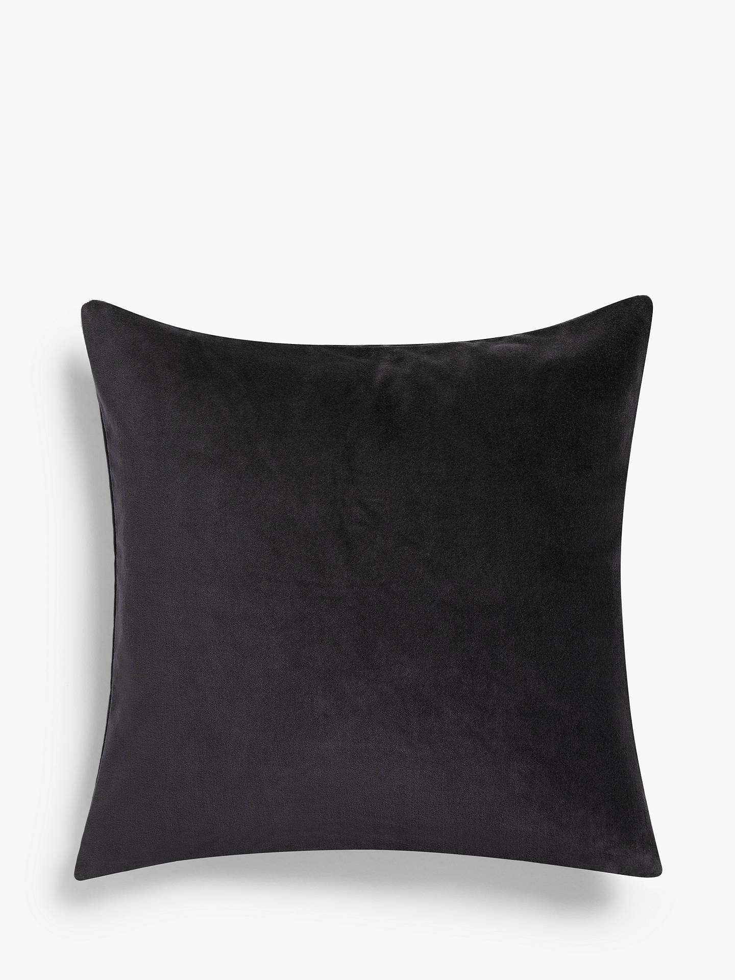 Buy John Lewis & Partners Cotton Velvet Cushion, Graphite Online at johnlewis.com