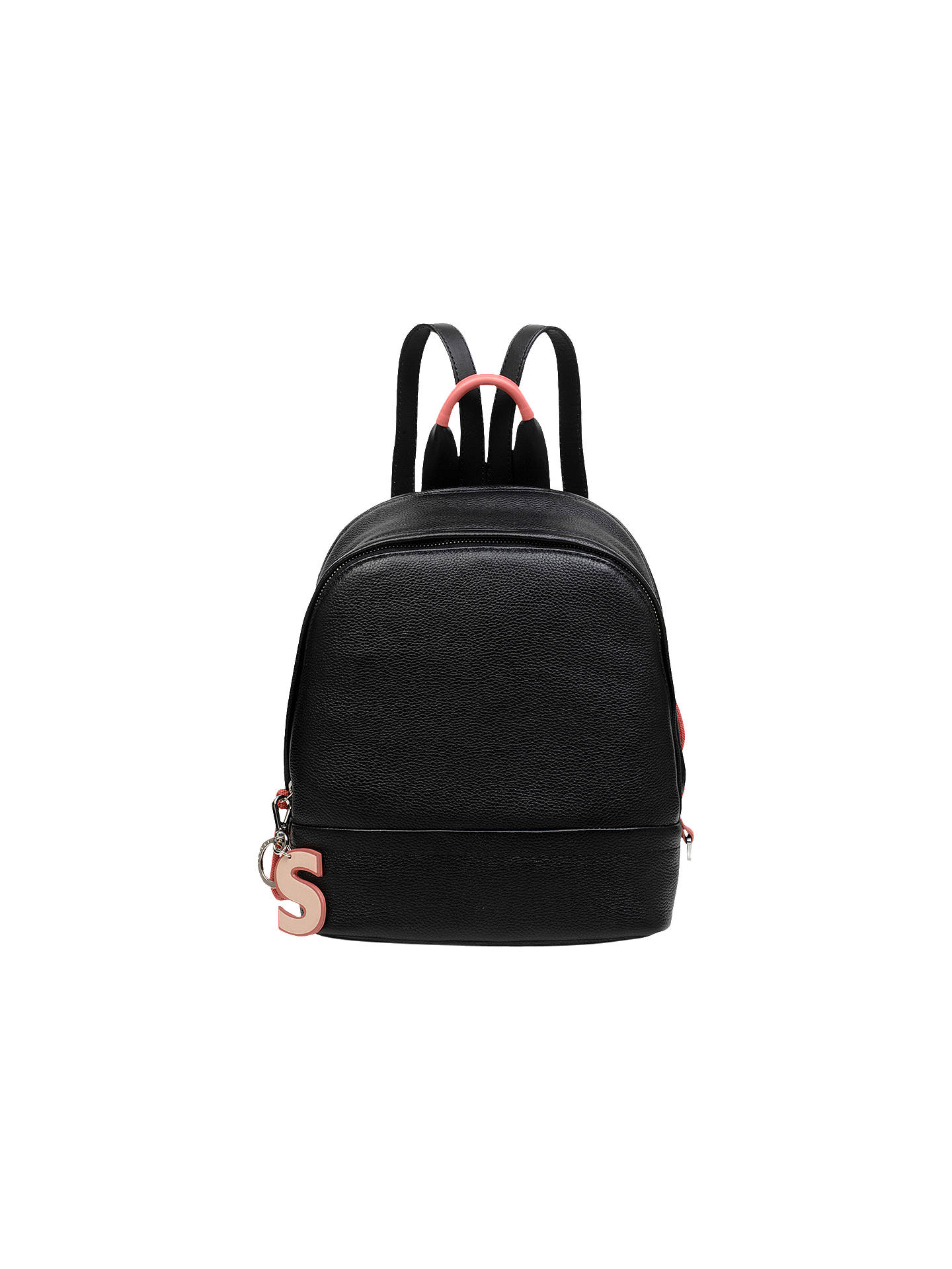 BuyRadley Flex Small Leather Zip Around Backpack, Black Online at johnlewis.com