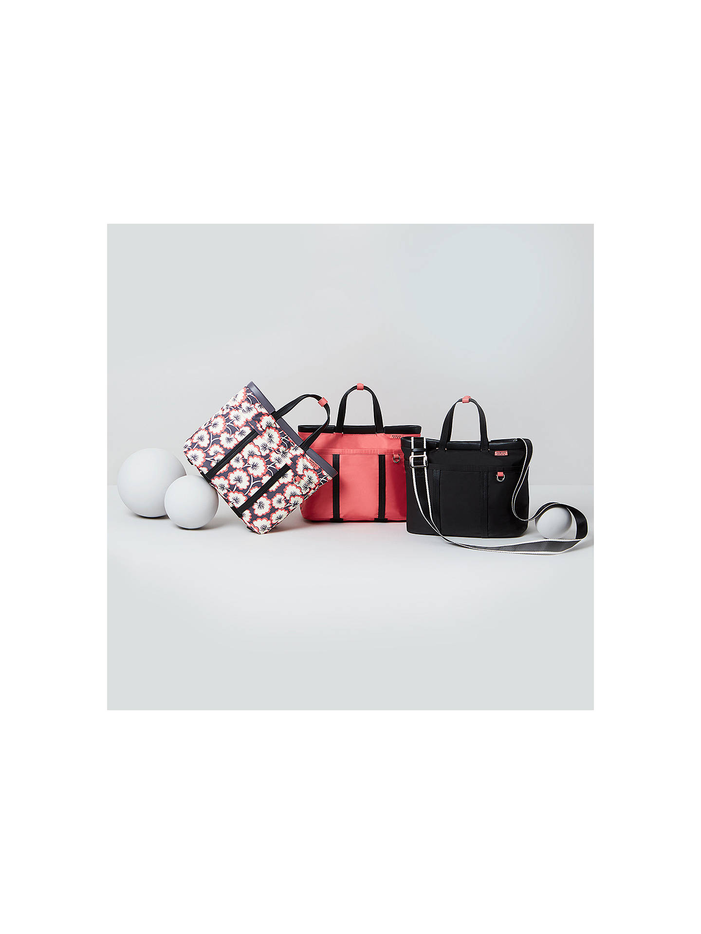 BuyRadley Flex Medium Multiway Grab Bag, Coral Pink Floral Online at johnlewis.com
