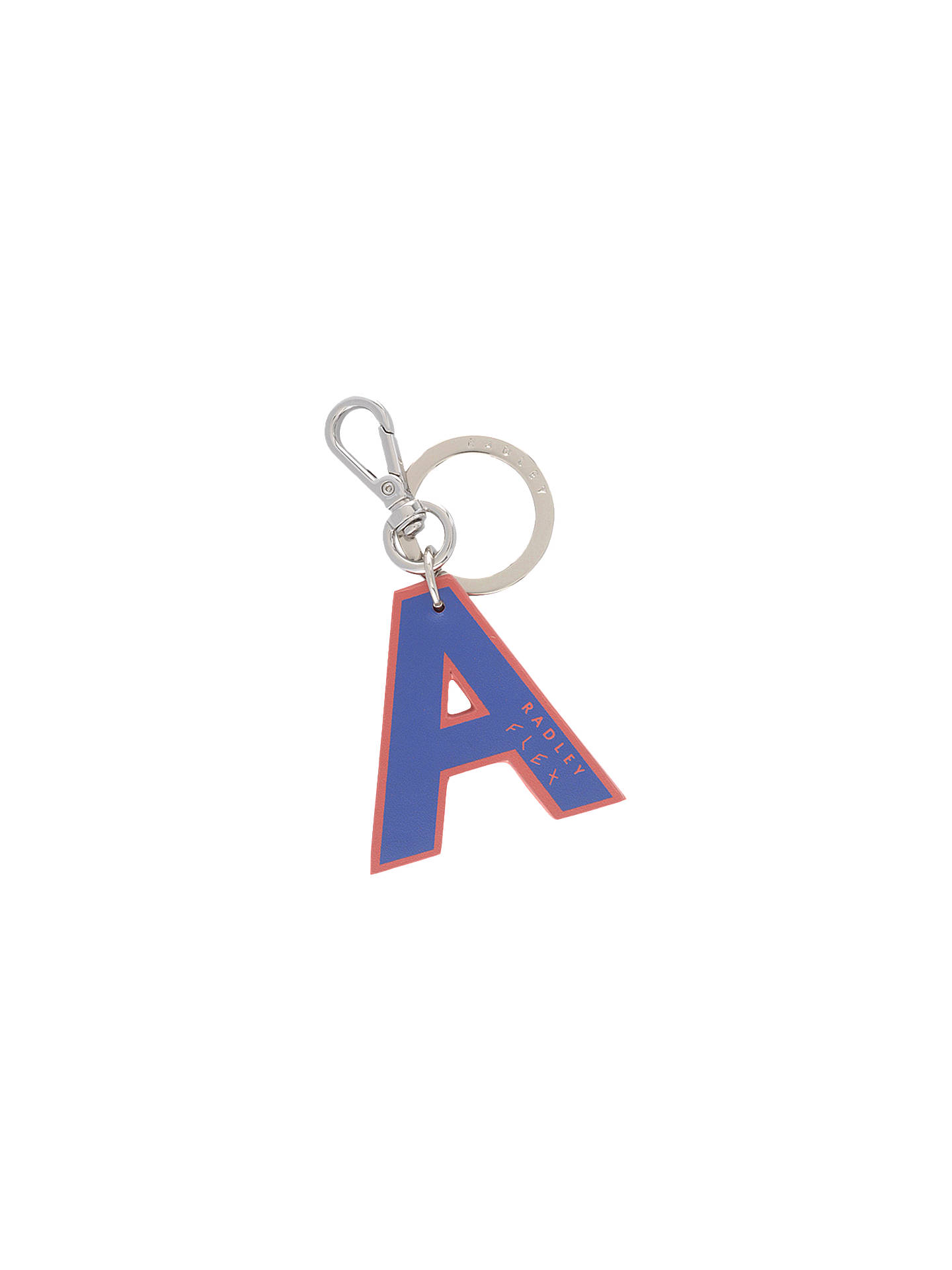 Buy Radley Flex Letters Small Bag Charm, Blue A Online at johnlewis.com