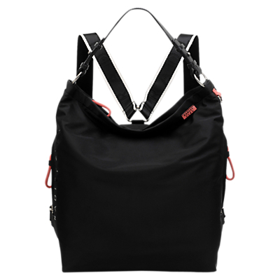 Radley Flex Large Zip Top Backpack Hobo Bag, Black