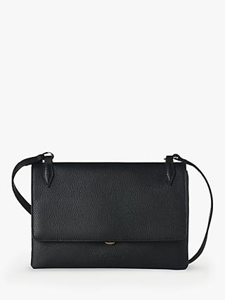 L.K.Bennett Patricia Leather Shoulder Bag, Black
