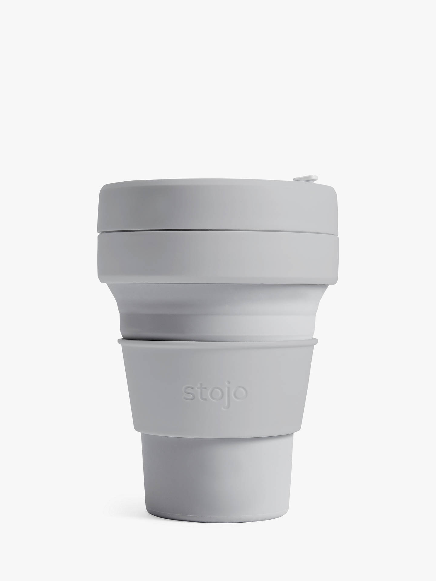 BuyStojo Collapsible Reusable Pocket Cup, 355ml, Cashmere Online at johnlewis.com