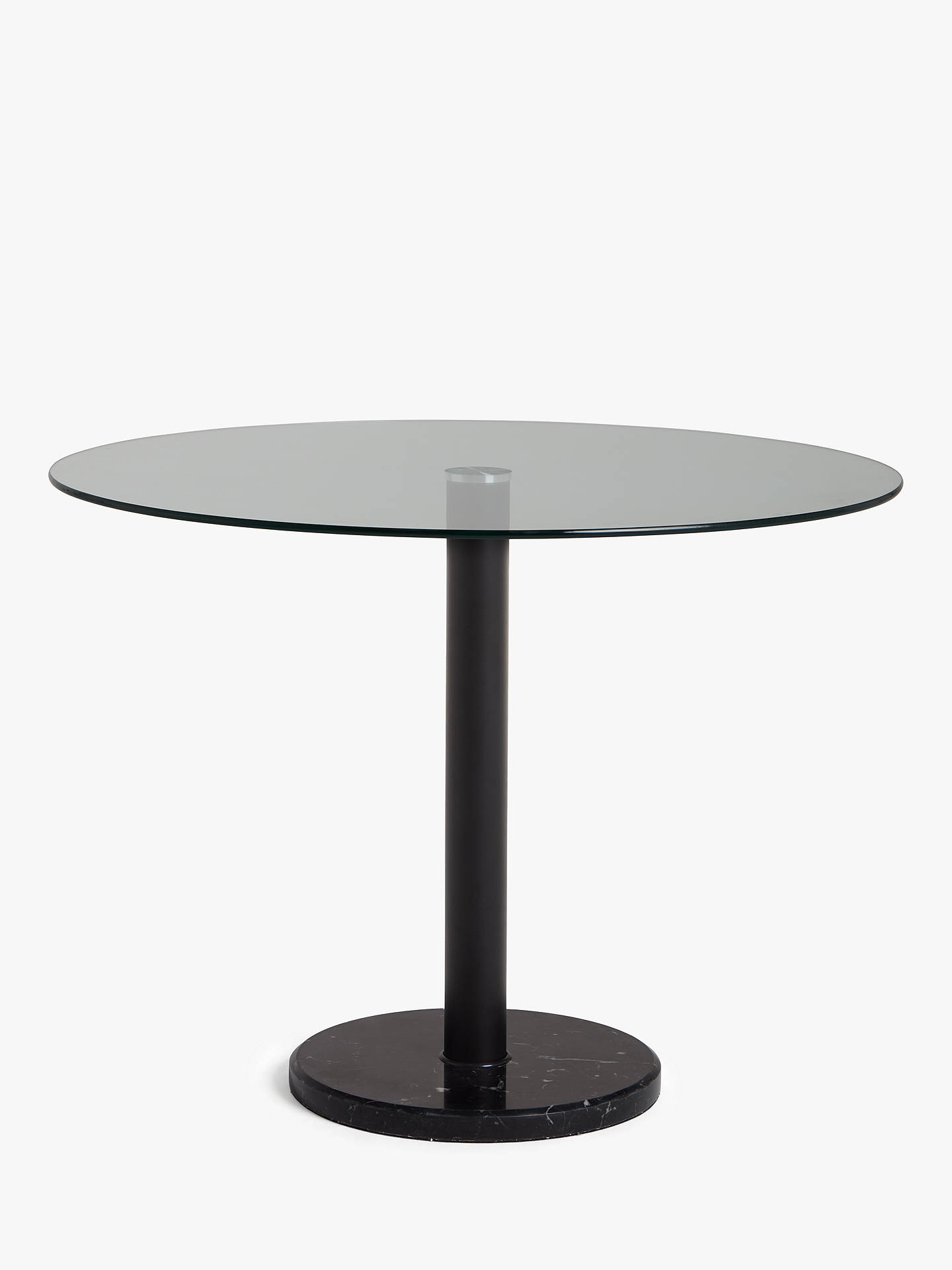 House By John Lewis Enzo 4 Seater Glass Round Dining Table Black Marble