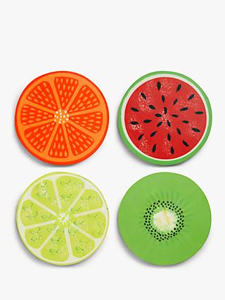 John Lewis & Partners Fruit Coasters, Set of 4, Assorted