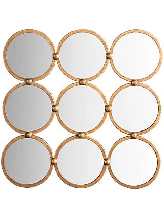 John Lewis & Partners Marlene Mirror, 69 x 69cm, Antique Gold Leaf