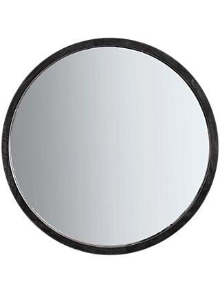 Marx Wood Boho Round Mirror, 90cm, Natural