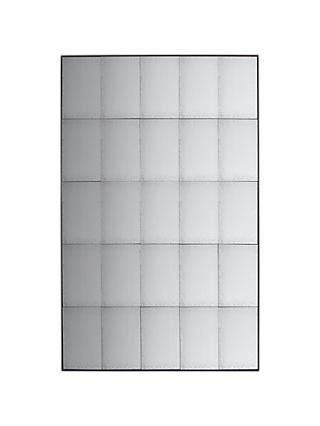 John Lewis & Partners Bastien Antiqued Glass Rectangular Mirror, 160 x 100cm, Metallic
