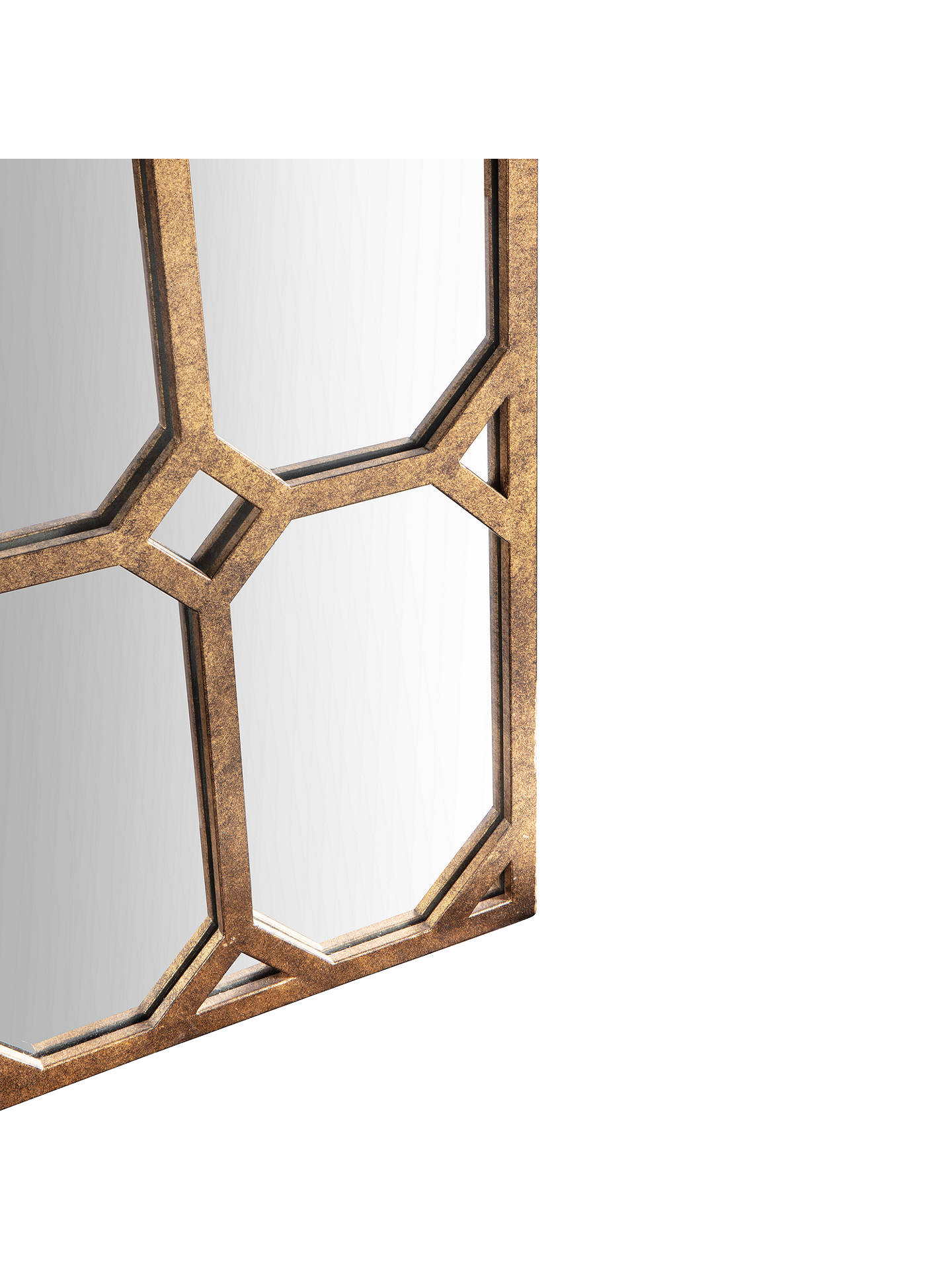 BuyJohn Lewis & Partners Eugenie Arched Mirror, 149 x 79cm, Antique Bronze Online at johnlewis.com