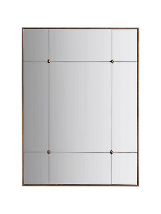 John Lewis & Partners Vina Embellished Rectangular Mirror, 95 x 70cm, Antique Gold