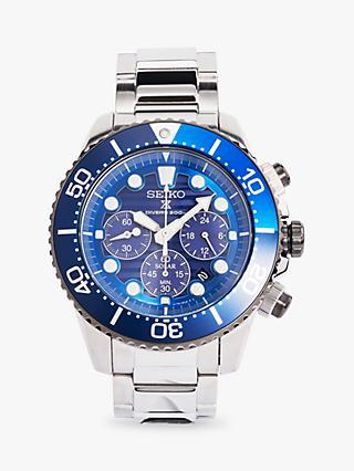 fb1e0364b8b Seiko SSC675P1 Men s Prospex Automatic Chronograph Date Bracelet Strap Watch