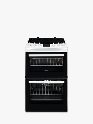Zanussi ZCV46250WA Freestanding Double Electric Cooker, A Energy Rating, 60cm Wide, White