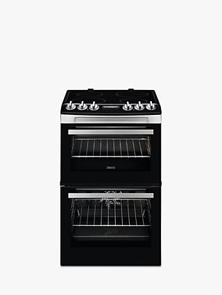 Zanussi ZCV46250XA Electric Hob Double Cooker, Black