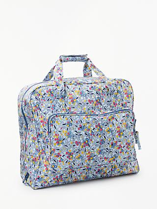 John Lewis & Partners Berry Print Sewing Machine Bag, Blue