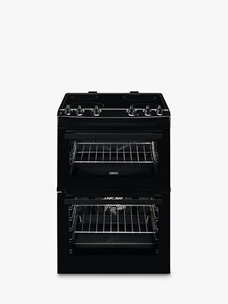Zanussi ZCV66050BA Electric Hob Double Cooker, A Energy Rating, Black