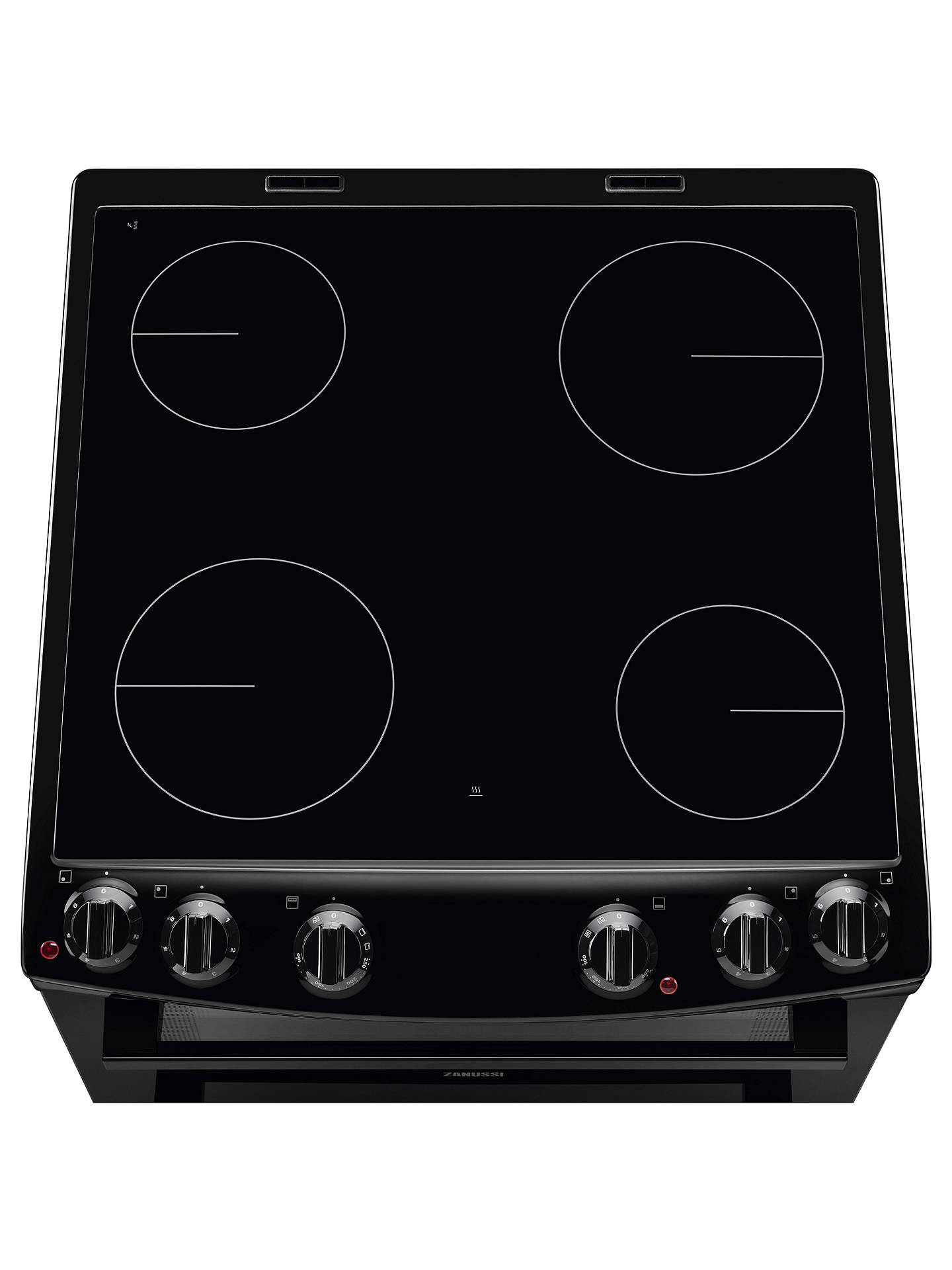 Buy Zanussi ZCV66050BA Electric Hob Double Cooker, A Energy Rating, Black Online at johnlewis.com