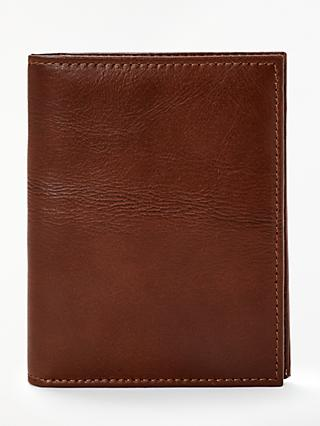 John Lewis & Partners Leather Passport Cover, Brown
