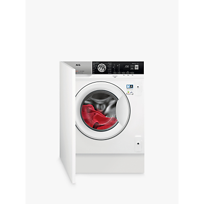 AEG L7FE7461BI Integrated Washing Machine, 7kg Load, A+++ Energy Rating, 1400 RPM, White