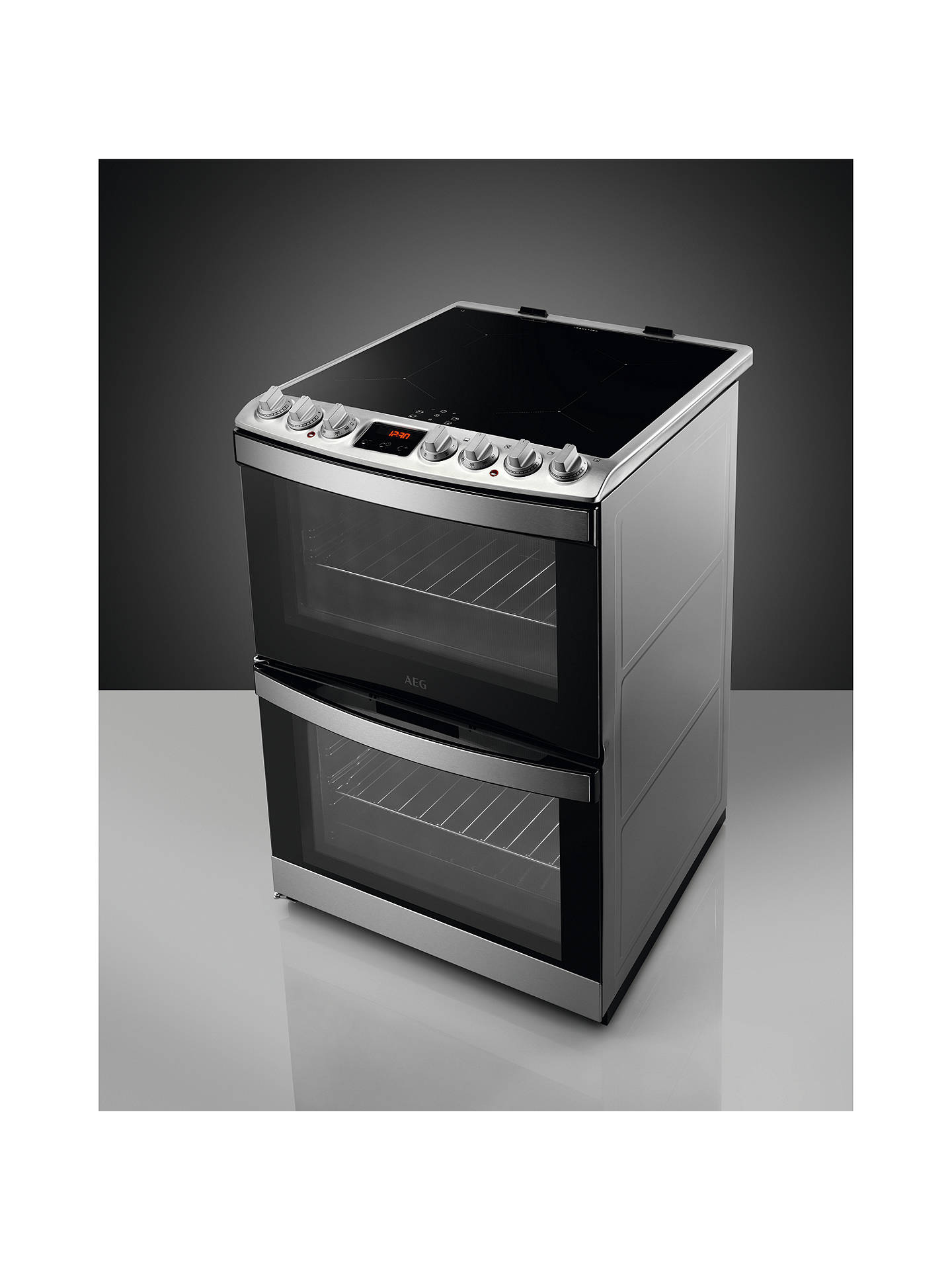BuyAEG CIB6731ACM Electric Cooker, A Energy Rating, Stainless Steel Online at johnlewis.com