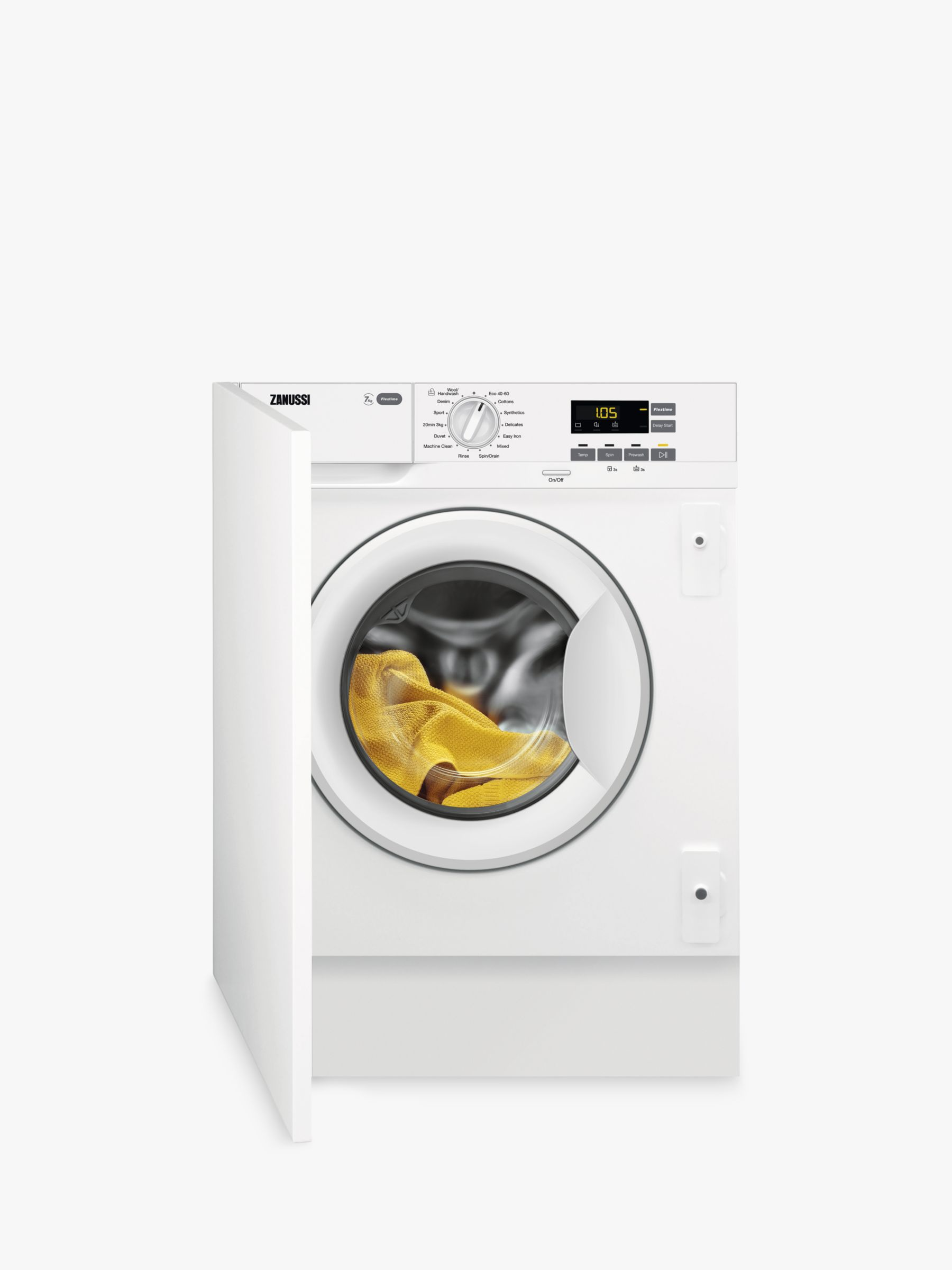 Zanussi Zanussi Z712W43BI Integrated Washing Machine, 7kg Load, A+++ Energy Rating, White
