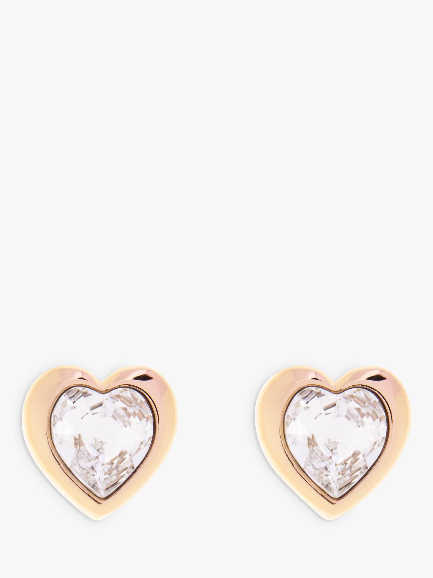 1a3fe2dea Buy Ted Baker Han Swarovski Crystal Heart Stud Earrings, Gold Online at  johnlewis.com ...