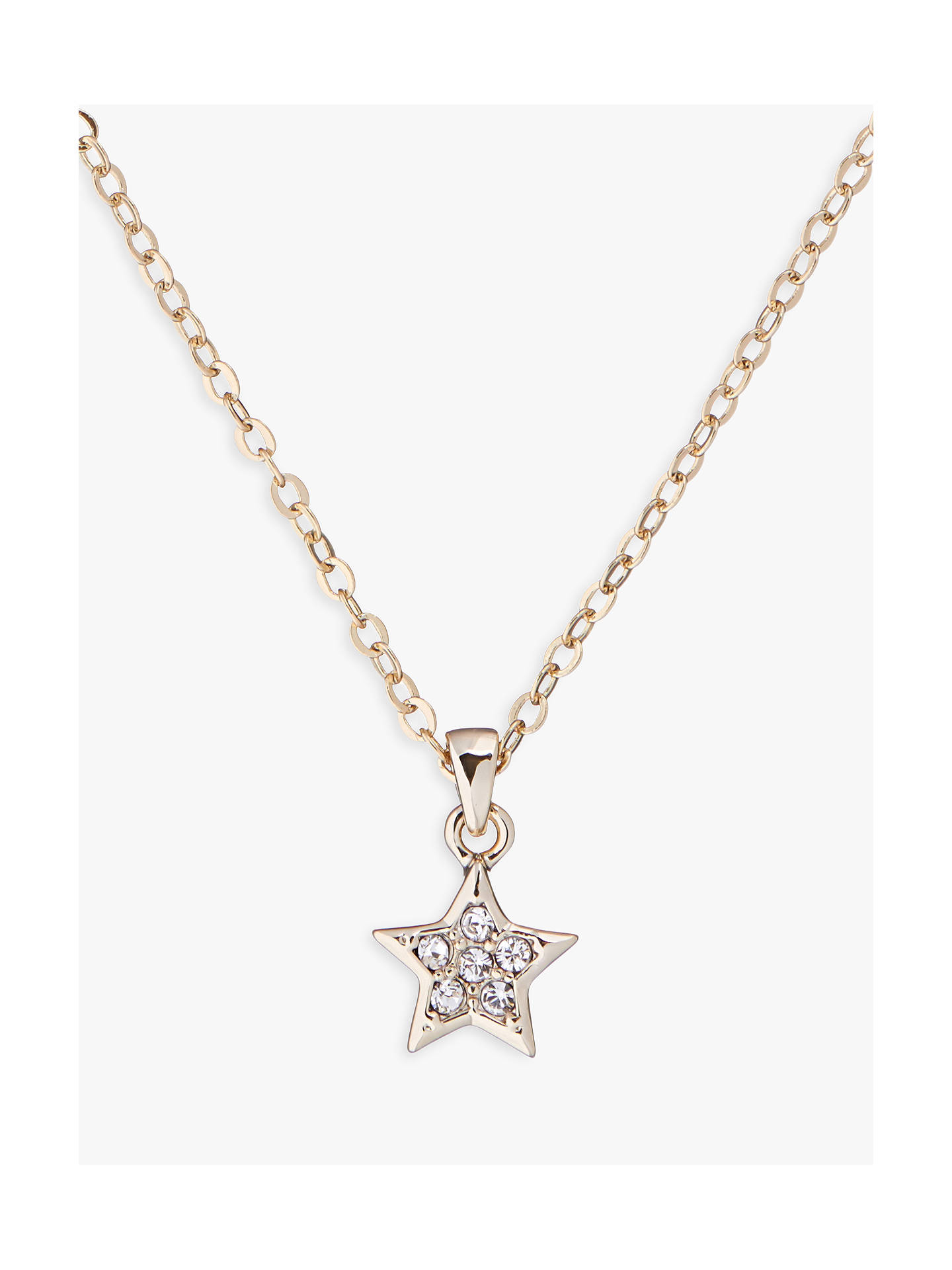 BuyTed Baker Saigi Swarovski Crystal Star Pendant Necklace, Pale Gold Online at johnlewis.com
