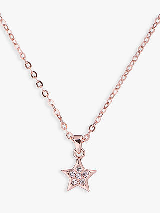 Buy Ted Baker Saigi Swarovski Crystal Star Pendant Necklace, Rose Gold Online at johnlewis.com