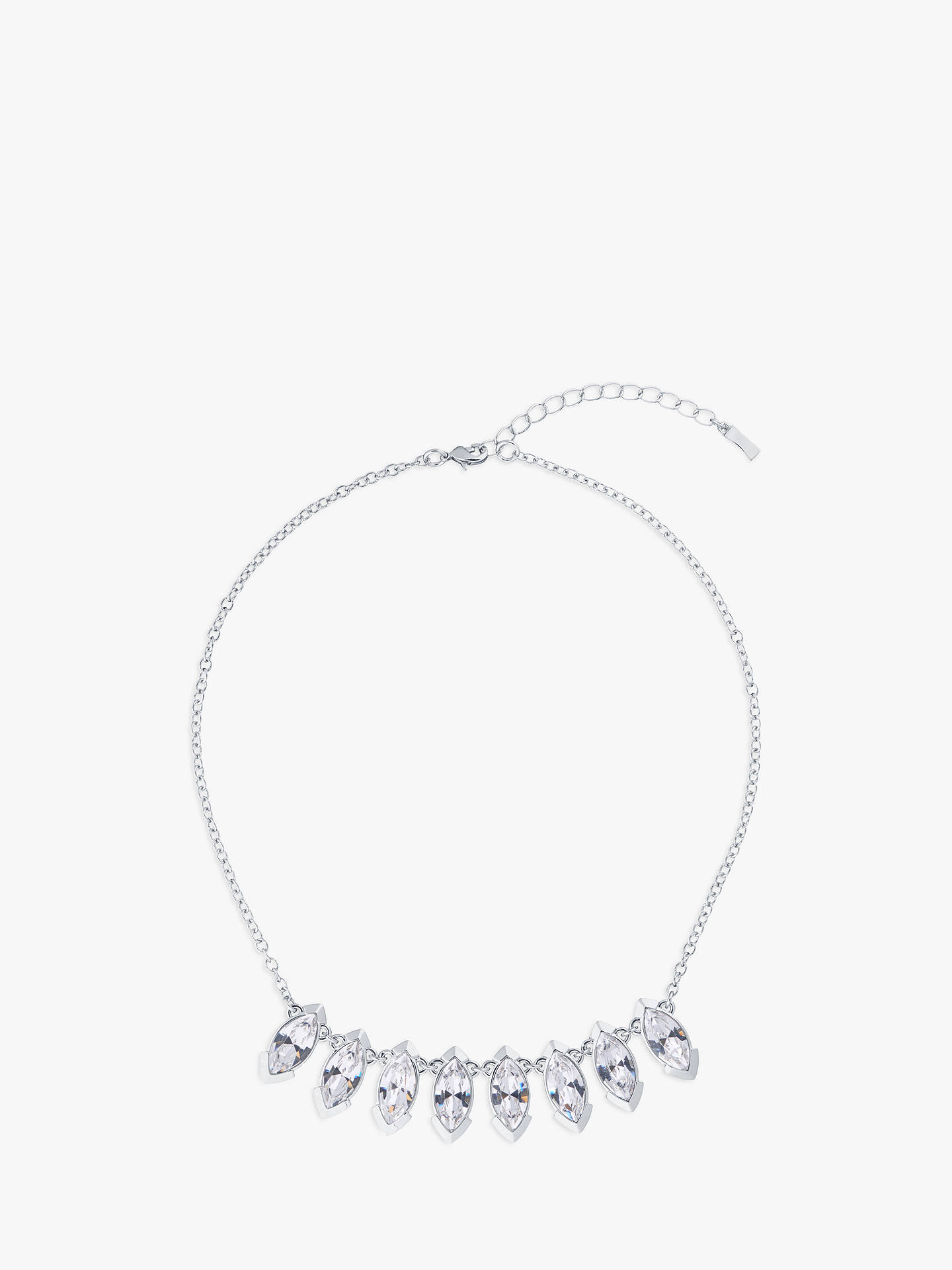 Buy Ted Baker Ilsaa Marquise Swarovski Crystal Pendant Necklace, Silver Online at johnlewis.com