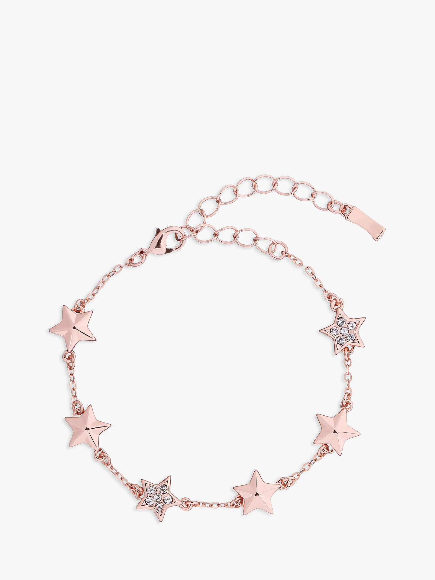 BuyTed Baker Shaena Swarovski Crystal Star Chain Bracelet, Rose Gold Online at johnlewis.com