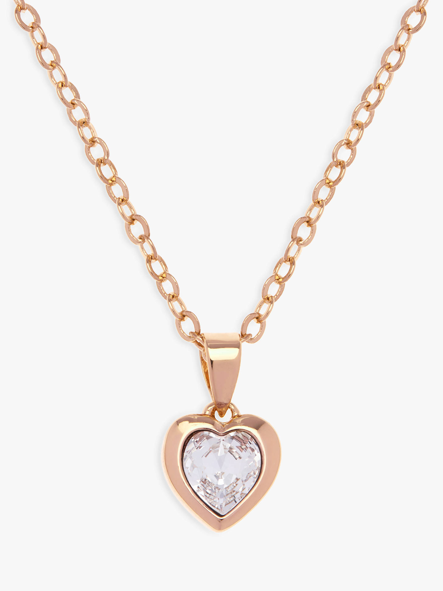 Buy Ted Baker Hannela Swarovski Crystal Heart Pendant Necklace, Gold Online at johnlewis.com