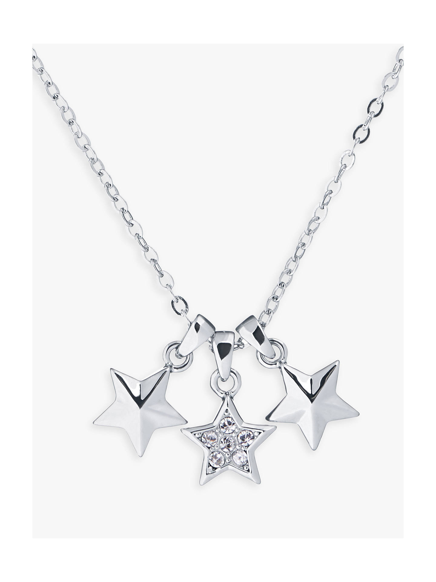 BuyTed Baker Shami Swarovski Crystal Triple Star Pendant Necklace, Silver Online at johnlewis.com