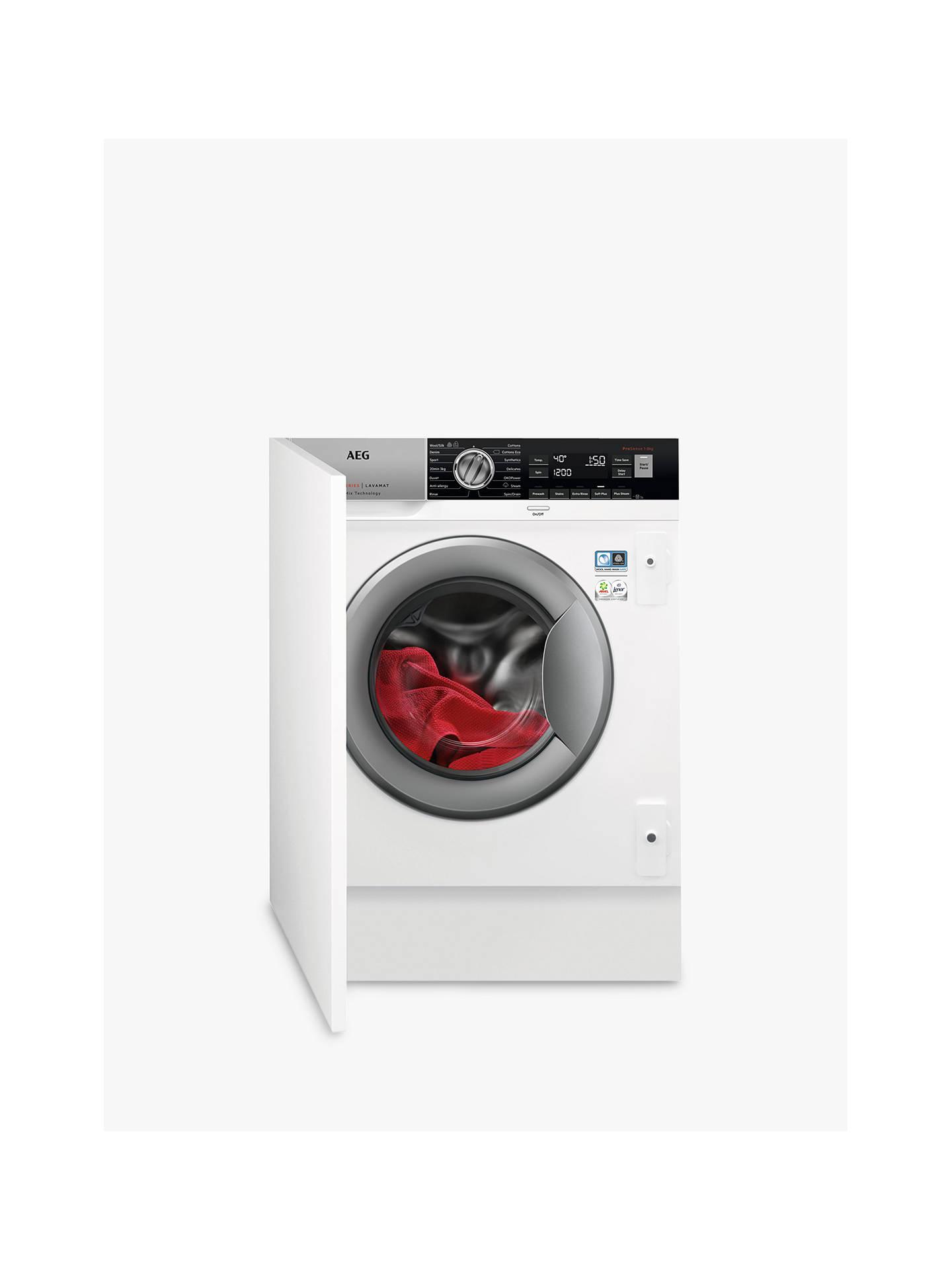 AEG ProSteam Technology L8FC8432BI Integrated Washing Machine, 8kg on