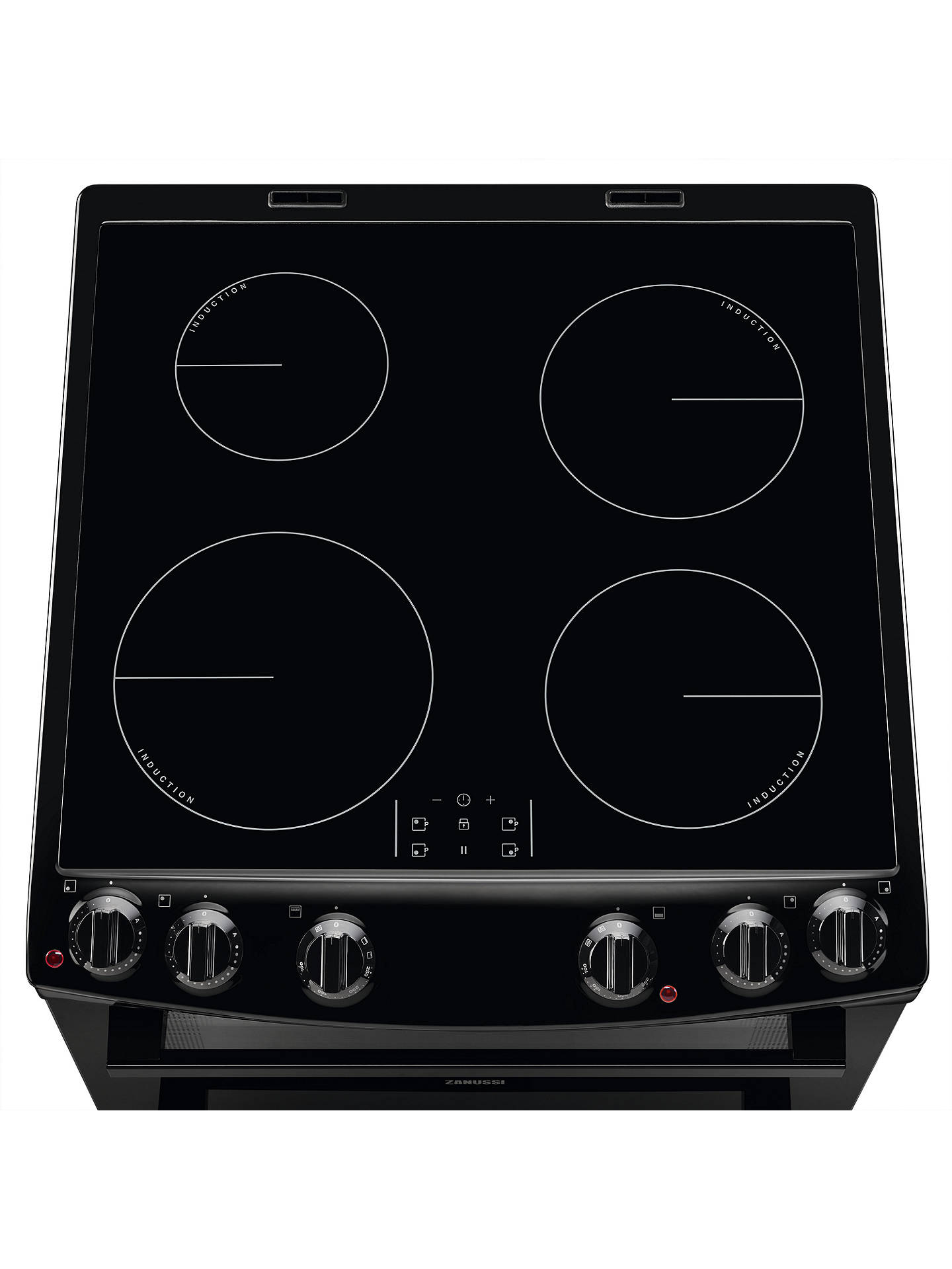 Buy Zanussi ZCI66050BA Induction Hob Double Cooker, Black Online at johnlewis.com