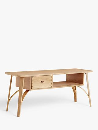 "John Lewis & Partners Branch TV Stand for TVs up to 42"", Oak"