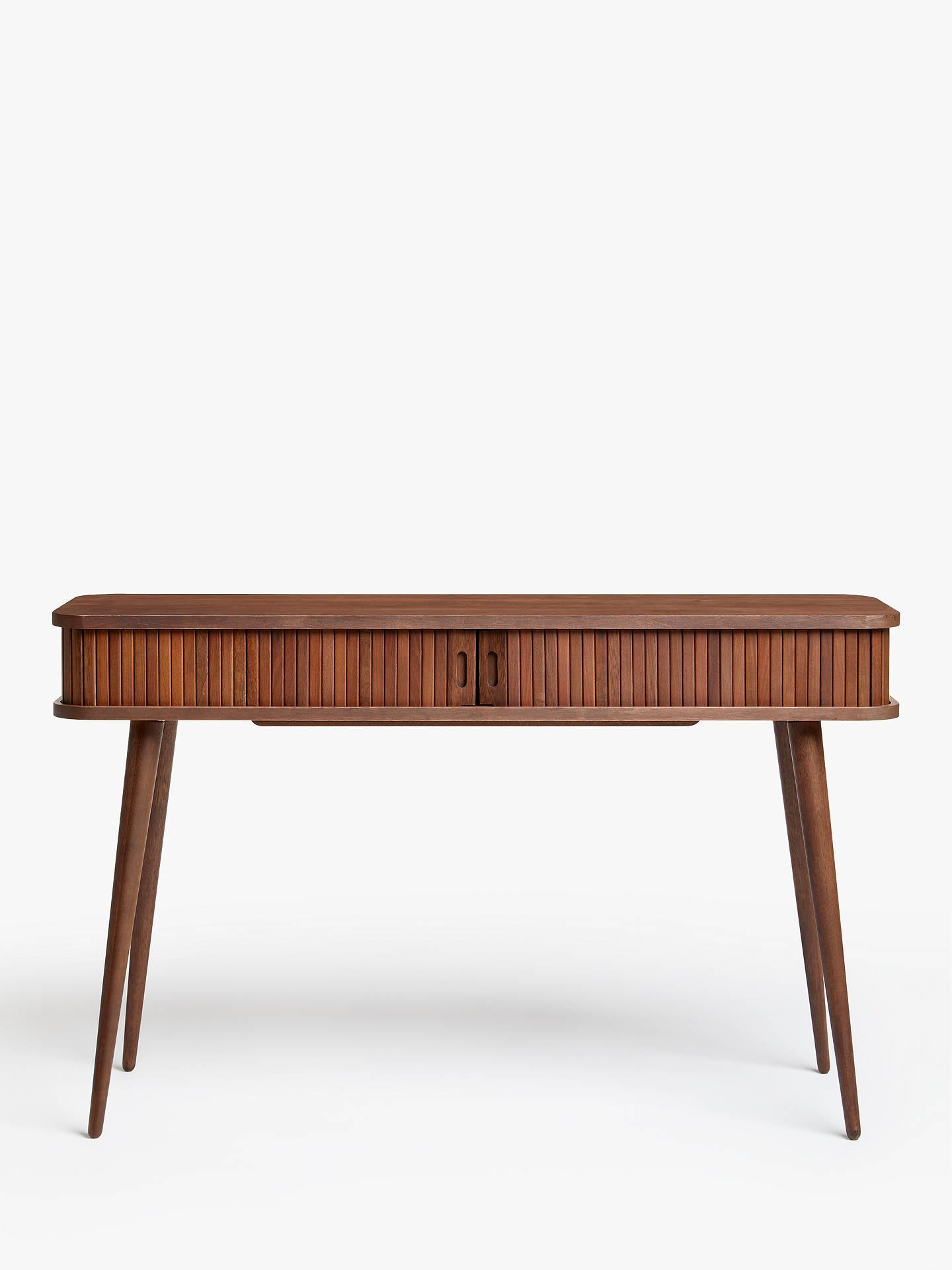 John Lewis Partners Grayson Storage Console Table Walnut