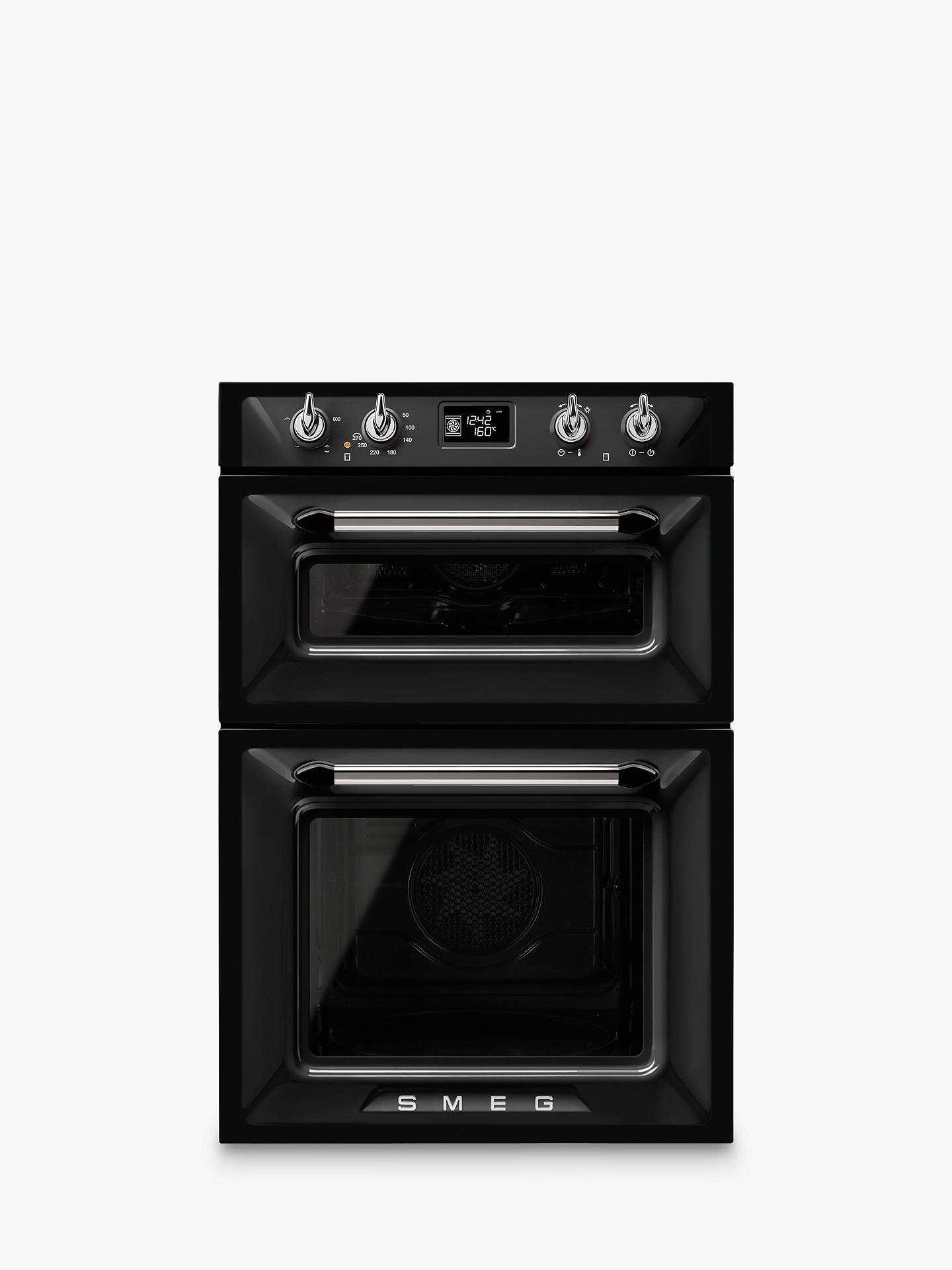 BuySmeg DOSF6920P1 Victoria Built-In Multifunction Double Oven, Black Online at johnlewis.com