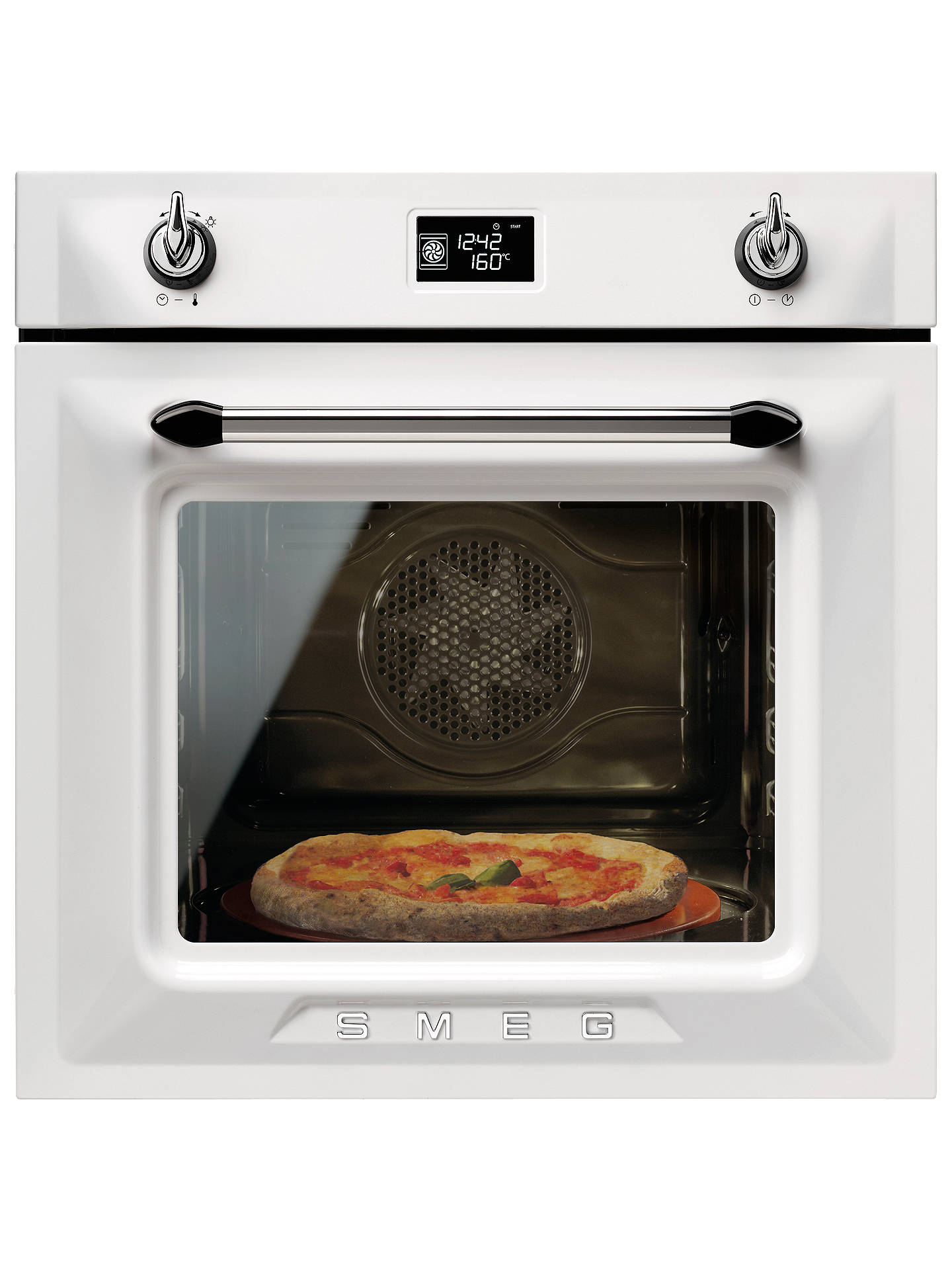 BuySmeg SFP6925BPZE1 Victoria Pyrolytic Built-In Single Oven, White Online at johnlewis.com