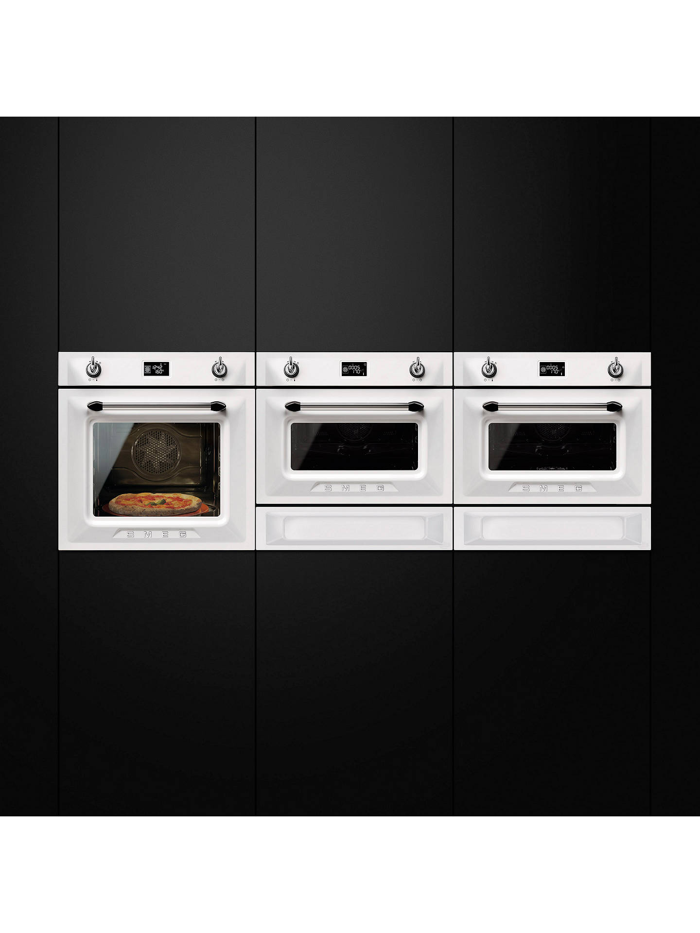 BuySmeg SF4920MCB1 Victoria Built-In Single Microwave Oven Online at johnlewis.com