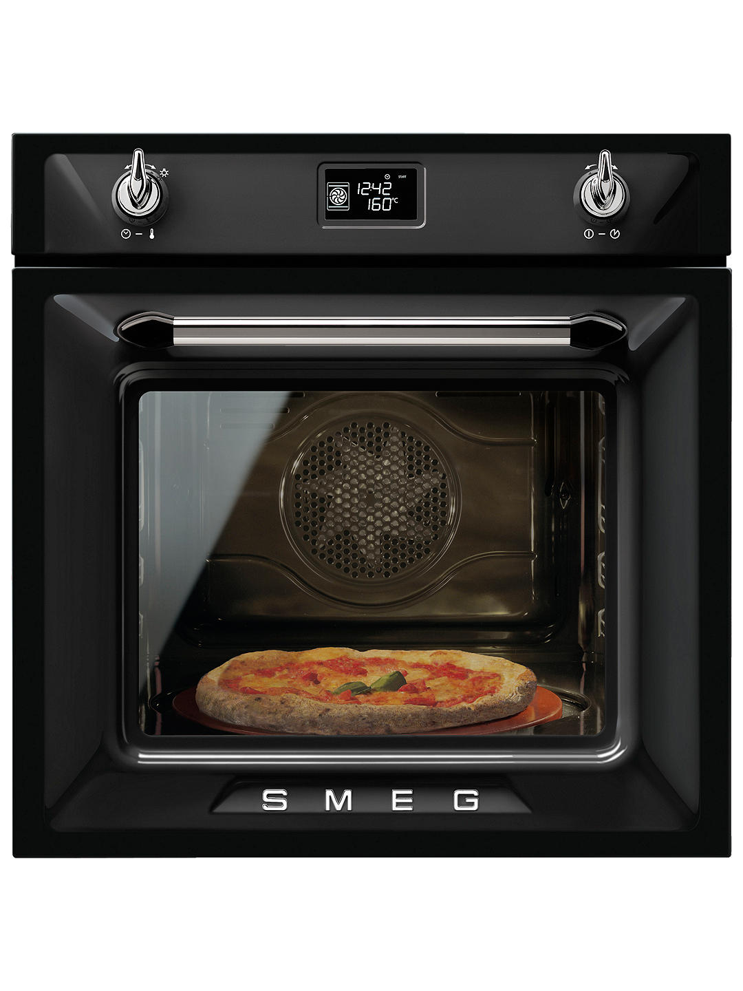 Buy Smeg SFP6925NPZE1 Victoria Pyrolytic Built-In Single Oven, Black Online at johnlewis.com