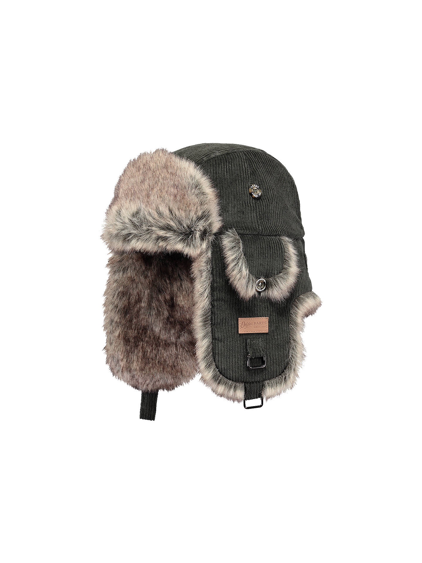 Buy Barts Rib Bomber Hat, Army Green Online at johnlewis.com