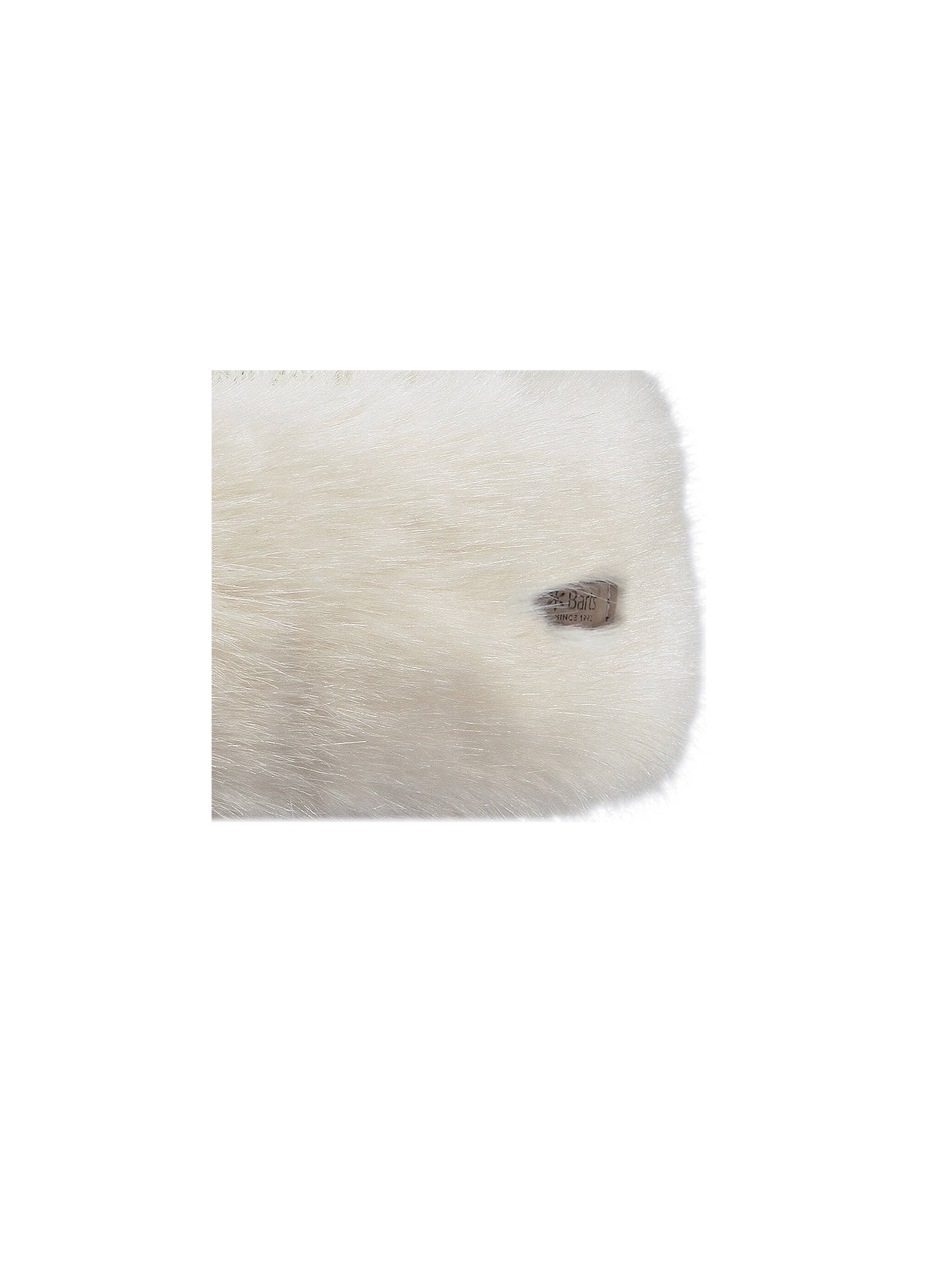 BuyBarts Faux Fur Band Cable Knit Hat, White Online at johnlewis.com