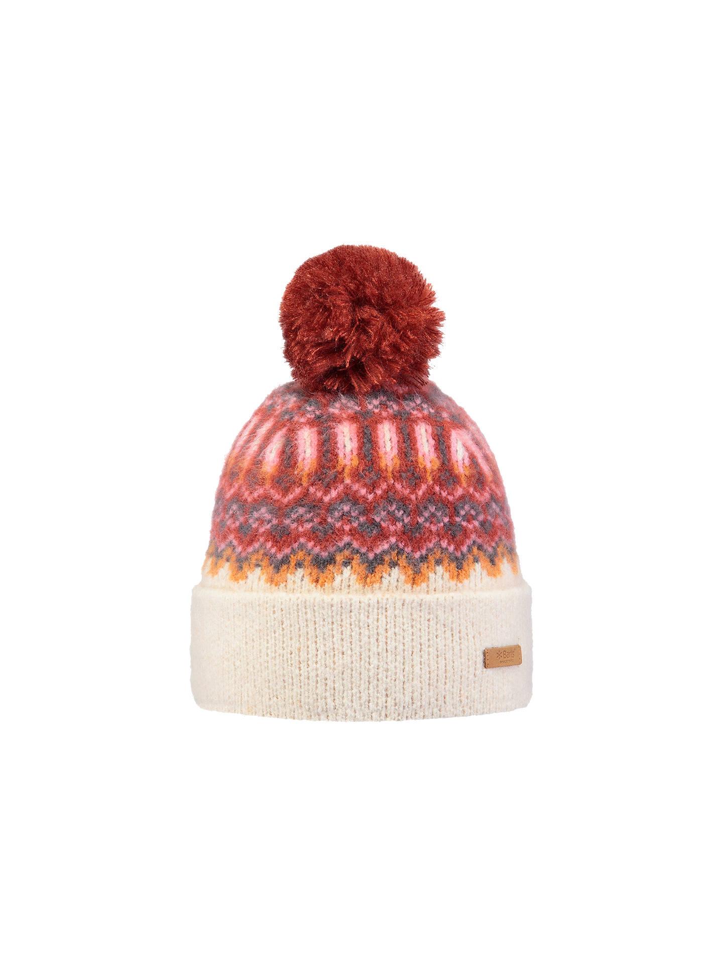 Buy Barts Drew Beanie, One Size, Cream/Red Online at johnlewis.com ...