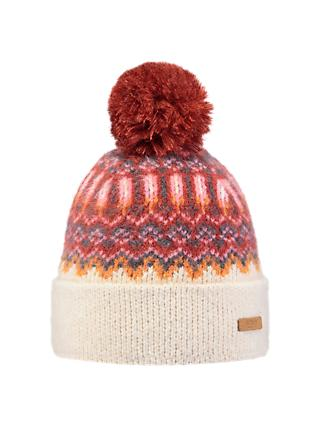 Barts Drew Beanie, One Size, Cream/Red