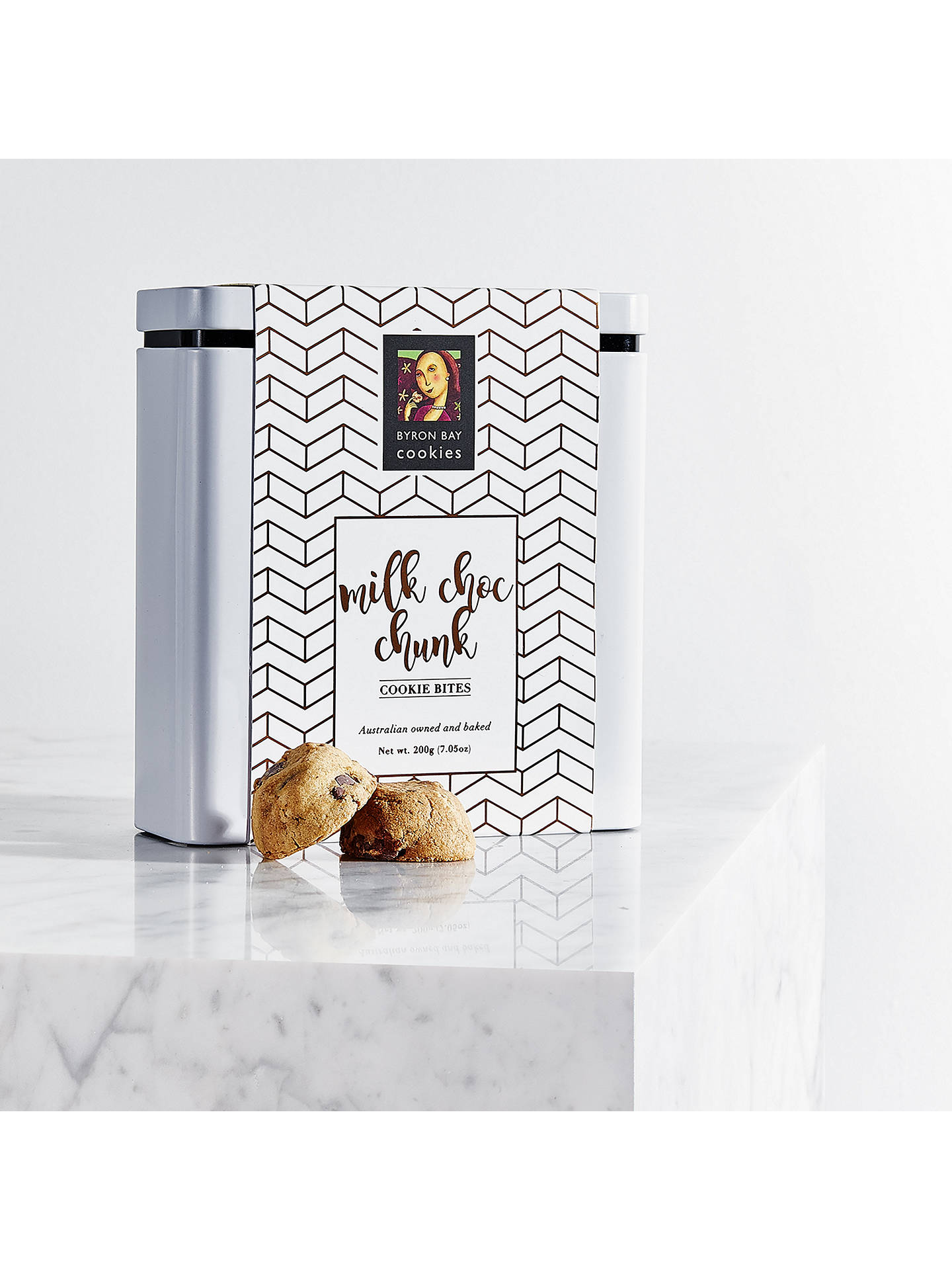 BuyByron Bay Cookie Company Milk Choc Chunk Tin, 200g Online at johnlewis.com
