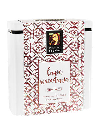 Buy Byron Bay Cookie Company Lemon Macadamia Shortbread Tin, 200g Online at johnlewis.com