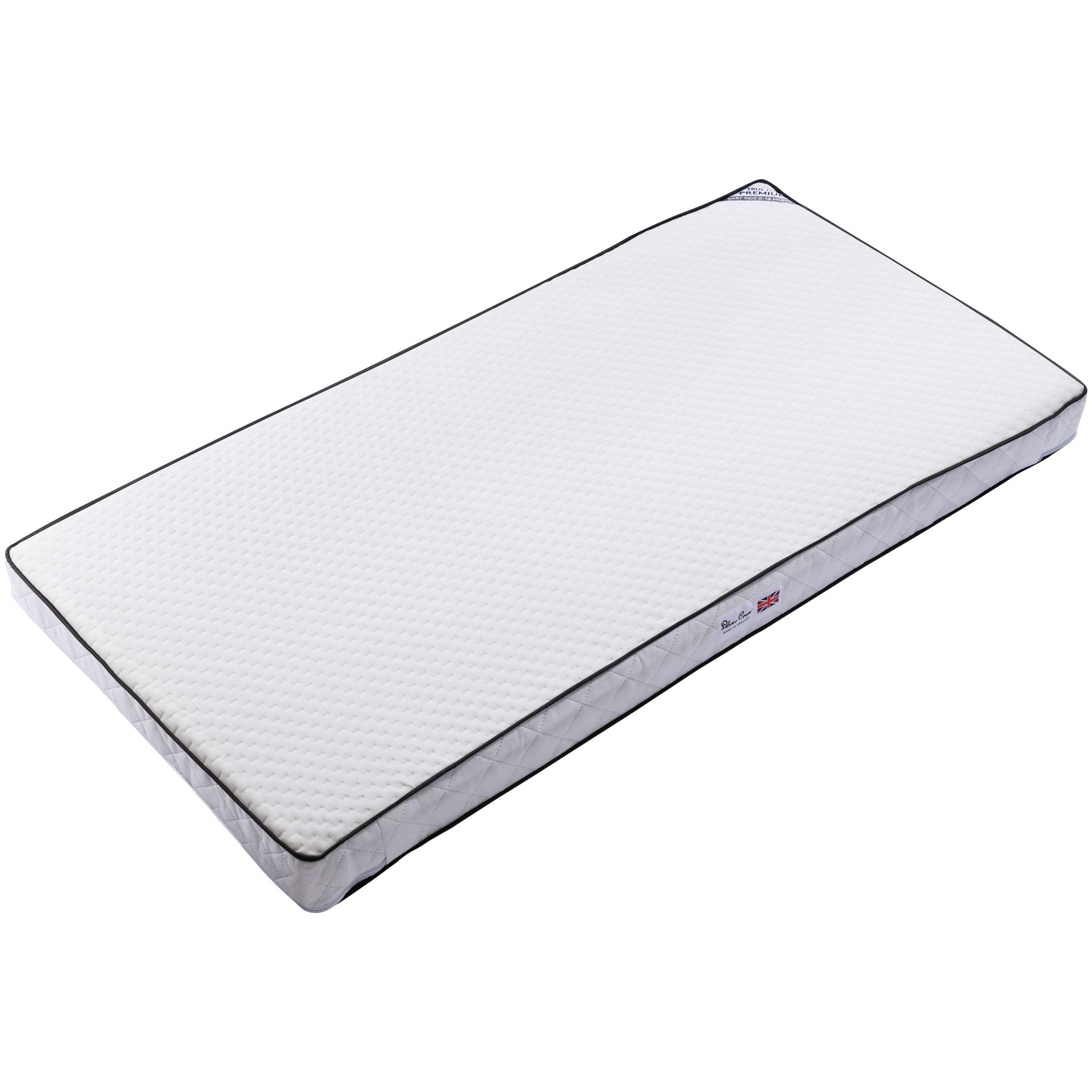 Silver Cross Premium True Fit TM Cotbed Mattress, 140cm x 70cm